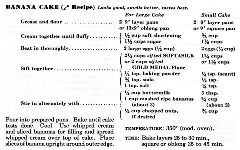 Bananacakerecipe